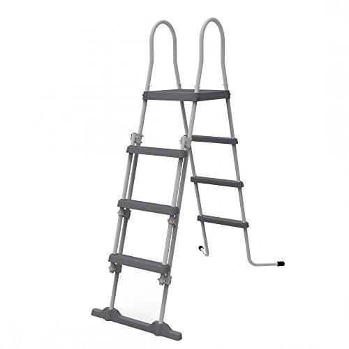 Jilong Pool veiligheidsladder tot 122 cm poolhoogte 4 treden inklapbaar zwembad trap zwembadladder ladder instap voor opstelzwembaden van alle soorten en fabrikanten