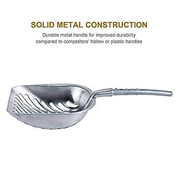 TOOGOO Pelle Profonde De Tamis De Scoop De Litière De Chat D'Alliage D'Aluminium Solide avec La Longue Poignée Flexible