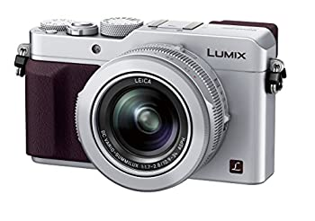 Panasonic Lumix DMC-LX100 Digital Camera 12.8MP 3.0-Inch Display 24-75mm Leica DC Vario-Summilux f/1.7-2.8 Lens 4K Ultra HD Video HDMI/USB Wi-Fi NFC  Silver
