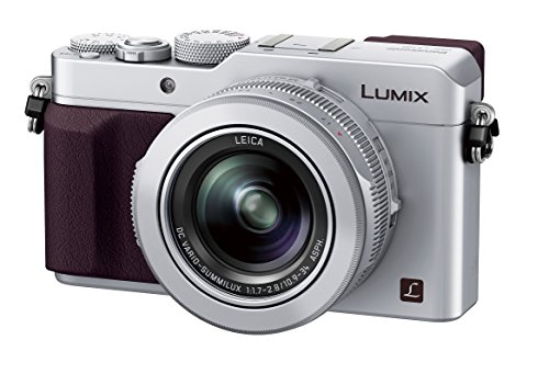 Panasonic Lumix DMC-LX100 Digital Camera, 12.8MP, 3.0-Inch Display, 24-75mm Leica DC Vario-Summilux f/1.7-2.8 Lens, 4K Ultra HD Video, HDMI/USB, Wi-Fi, NFC (Silver)