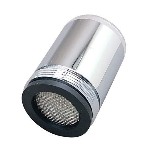 Hanxi Grifo de luz LED, WH-F03 Sensor de Temperatura Luz LED Grifo de Agua Grifo con iluminación Brillante Grifo de rociado de Ducha para Cocina Baño (Plateado)
