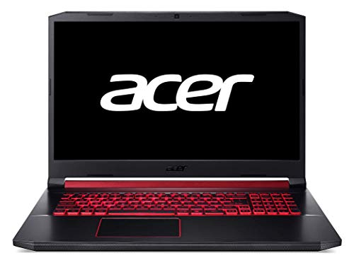 "Acer Nitro 5 - Ordenador Portátil de 17.3"" FullHD (Intel Core i7-9750H ,16GB de RAM, 512GB SSD, NVIDIA GeForce GTX 1650 4GB, Sin sistema operativo)  negro - Teclado QWERTY Español"