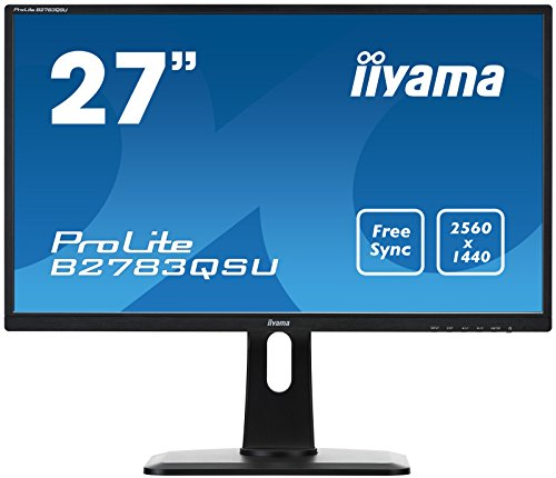 iiyama ProLite B2783QSU-B1 27 Black Compatibilité 3D Wide Quad HD LED display