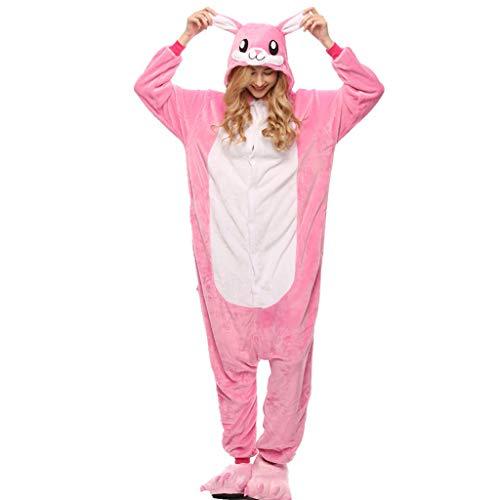 WANGLXPA Weicher Pyjama Jumpsuit Onesie Tier Fasching Halloween Kostüm Lounge Sleepsuit Herren Cosplay Overall Pyjama Schlafanzug Erwachsene Unisex Kostüme, XL