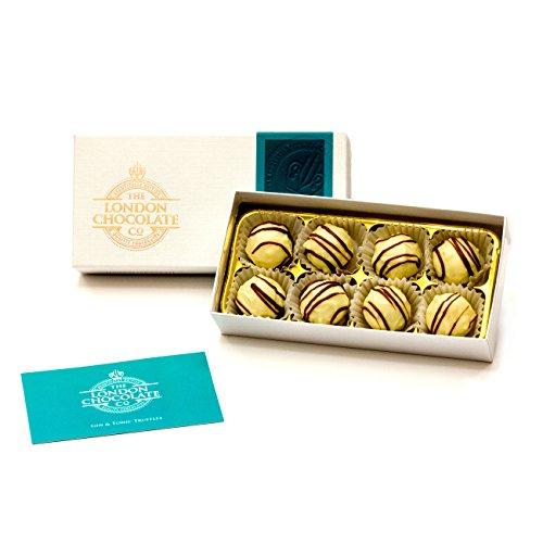 The London Chocolate Company, confezione regalo con tartufi di gin e tonica, 110 g, realizzata a mano a Londra, confezione regalo
