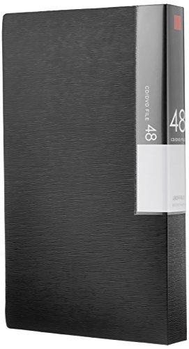 バッファロー BUFFALO CD&DVDファイルケース ブックタイプ 48枚収納 ブラック BSCD01F48BK 1個