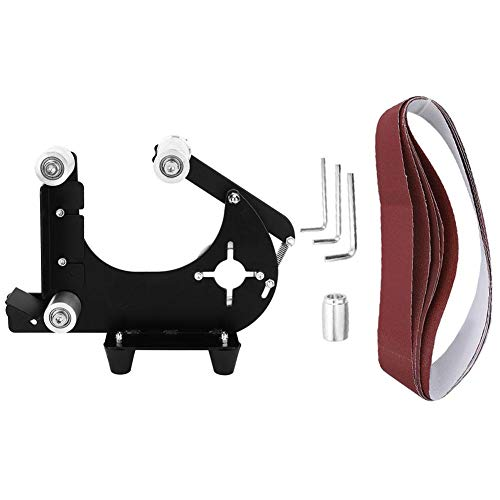 Desktop-Bandschleifer-Rack-Set, 22,8 x 1,2 Zoll Mini-Cross-Circle-Holzbearbeitungs-Schleifwerkzeug Zubehör für Winkelschleifer mit M10-Antriebsrad zum Schleifen Polieren