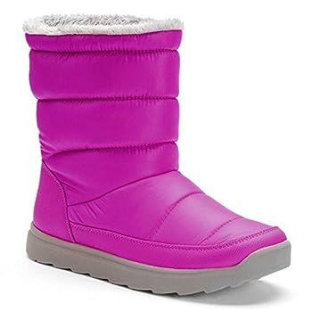 Tek Gear Women's Tall Puff Light Weight Winter Boots Fuchsia 8