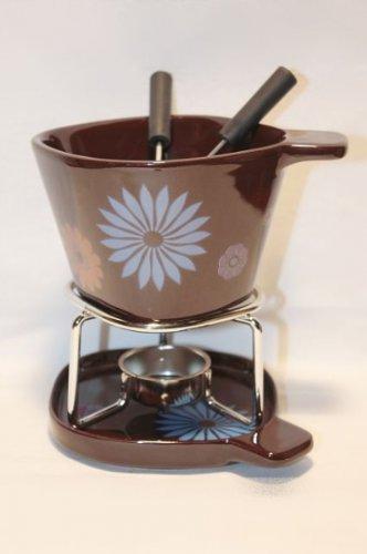 Blume Becher Set Schoko Fondue für Verliebte mit Gabeln