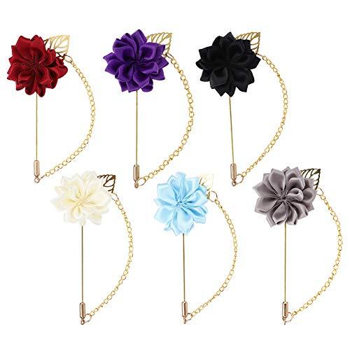 BOTEGRA Broche de Cadena de Rosas, Ropa de decoración Conveniente para Usar Broche de Flores Hecho a Mano para Aniversario de Boda para Regalos de cumpleaños