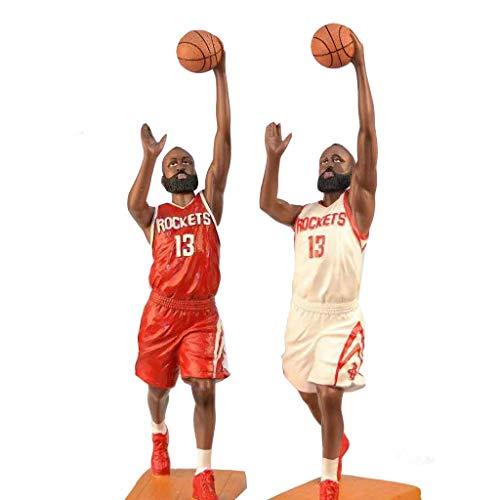 ZHIPENG Tischplattendekoration NBA Rocket-Stern Harden James Curry Kobe Basketball Charakter Action-Figur (Color : James)