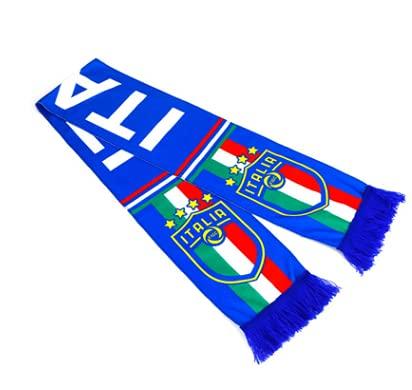 N\C Coppa Europa Top 24 Squadre Nazionali Tifosi Sciarpa Tifo Calcio Guardando La Palla Sciarpa Italia