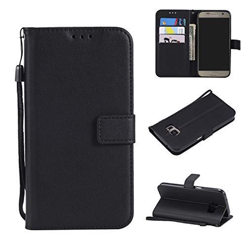 TTUDR Galaxy S6 Premium Leder Flip Schutzhülle [Standfunktion] [Kartenfächer] [Magnetverschluss] lederhülle klapphülle für Samsung Galaxy S6/G920F - TTMS020406 Schwarz