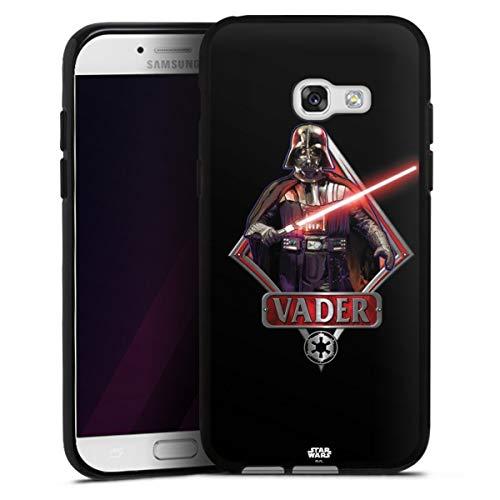 DeinDesign Silikon Hülle kompatibel mit Samsung Galaxy A5 (2017) Case schwarz Handyhülle Star Wars Darth Vader Schwert