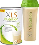 XLS Medical Nutrition + Shaker De Regalo - Batido Sustitutivo De Comidas Para Perder Peso - Ingredientes De Origen Natural - Contiene Todas Las Vitaminas Del Grupo B - Sin Gluten - 400 G, Vainilla