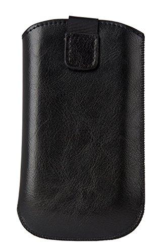 Handytasche aus hochwertigen Echt Leder passend für Samsung Galaxy Xcover 3 Handy Leder Tasche Schutz Hülle Case Cover Etui schwarz