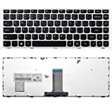 Replacement Keyboard Silver Frame for Lenovo B40-30 B40-45 B40-70 B40-80 Z40-70 Z40-75, US Layout Black Color