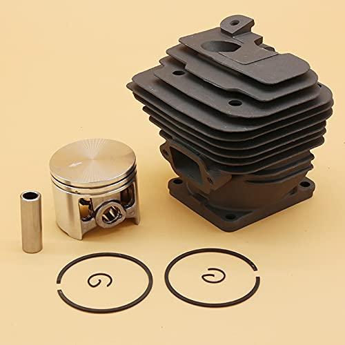 Juego de anillos de pistón de cilindro de 52 mm premium duraderos para Stihl MS461 MS 461 Motosierra Nikasil Revestido Repuestos de piezas de reparación Accesorios 1128020 1250 (Size : MS461 52MM)
