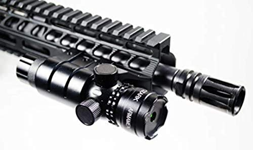 Green Laser Sight System by Ozark Armament - 5mw 532nm High Powered Tactical Green Laser with Picatinny Rail Mount Barrel Mount Pressure Switch and On Off Switch for Rifles and Shotguns