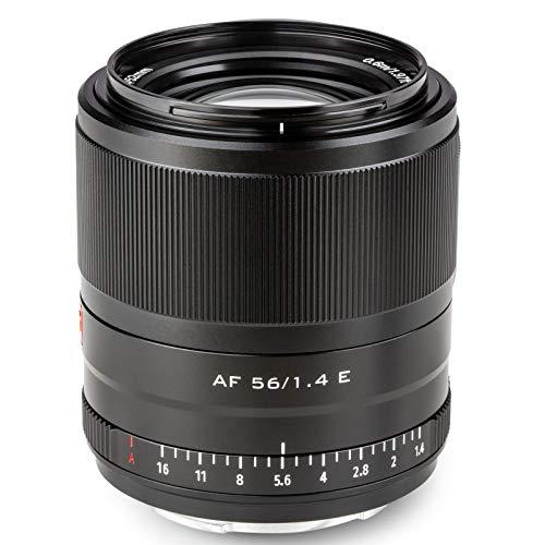 VILTROX AF 56mm F1.4 Objectif Mise au Point Automatique pour appareils Photo Sony E Mount (APS-C, Ouverture réglable f1.4-f16)