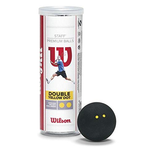 Wilson Squash-Ball, Staff, 3 Stück in Dose, Schwarz, WRT617900