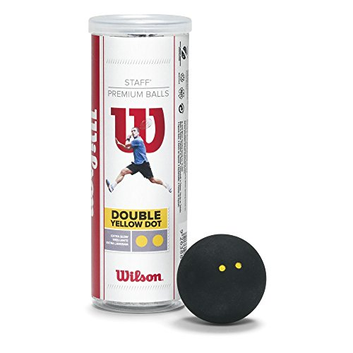 Wilson Staff Pelota de Squash 3 Unidades, Unisex, Amarillo II Negro, 4 Piezas/Paquetes