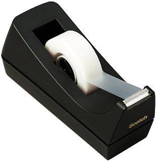 Scotch Desk Tape Dispenser, 1in. Core, Black (2-pack)