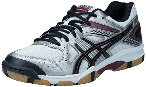 ASICS Women's Gel 1150V Volley Ball Shoe,Silver/Cardinal/Black,11 M US