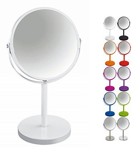 """Spirella Schminkspiegel Kosmetikspiegel Standspiegel Badezimmerspiegel""""Sydney"""" 2-Fach Vergrößerung - Ø 17cm - weiß"""