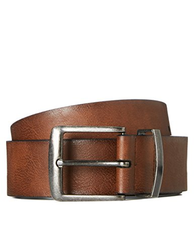 Marca Amazon - find. Cinturón Envejecido para Hombre, Marrón (Braun), L, Label: L