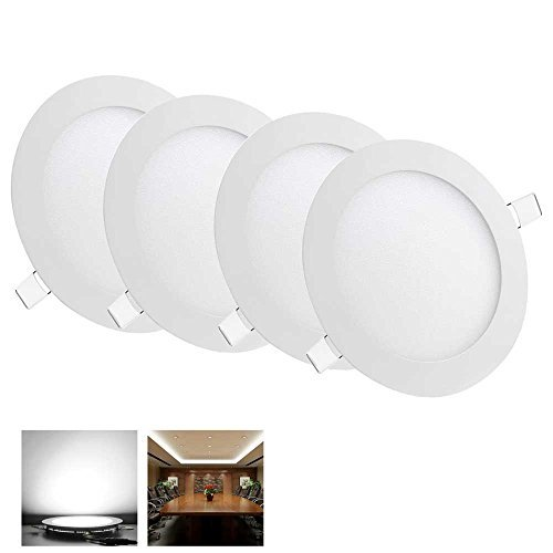 Yescom 9W 5 LED Recessed Panel Ceiling Light Ultra-thin 720LM Cool White 75W Equivalent Downlight (Pack of 4)