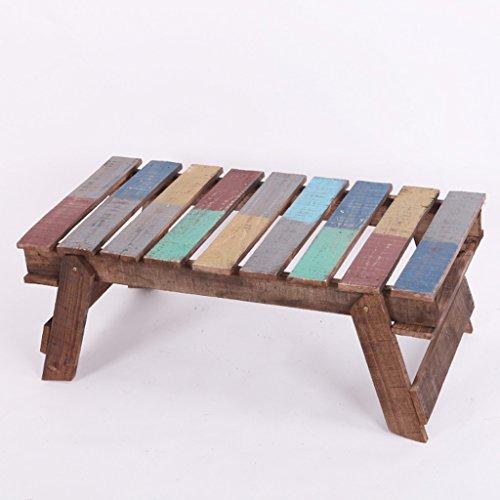 Table pliante multifonctionnelle de jardin de meubles en bois solide Table en bois de table de Horticultural colorée américaine