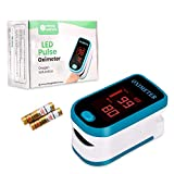 Sahyog Wellness LED Fingertip Pulse Oximeter measures Blood Oxygen Saturation and Pulse Rate Monitor with Battery (Blue)