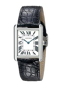 Cartier Men's W5200003 Tank Solo Silver Dial Watch image