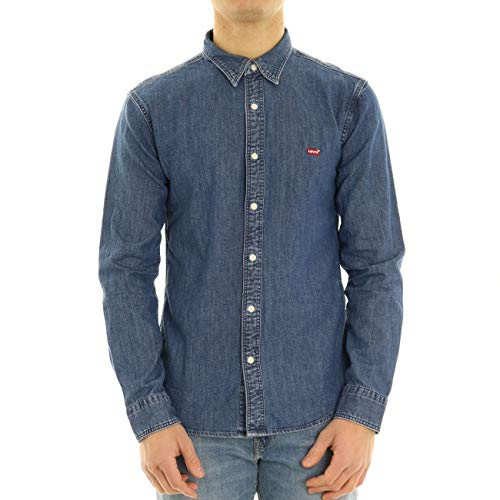 Levi's LS Battery Hm Shirt Slim Camisa, Blue (Redcast Stone Mid Flat T2 H2 19 0004), Medium para Hombre