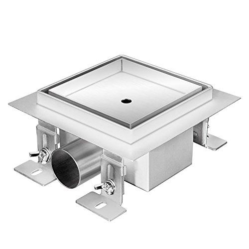 Zelsius Moderne roestvrijstalen douchegoot | verschillende modellen en maten voor gelijkaardige douche | vierkante bodemafvoer, doucheafvoer, bodemgoot 30 x 30 cm gladstone