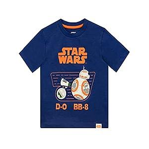 Star Wars Camiseta de Manga Corta para Niños D-O y BB8 La Guerra de Las Galaxias 1