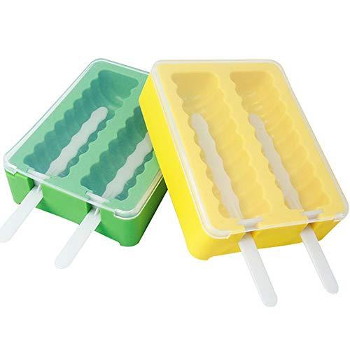 Stieleis-Formen mit 8 Stäbchen, BPA-frei, 2 Stück