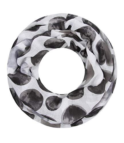 Majea Loop Schal Damen Schlauchschal - viele Farben - modischer Loopschal - Halstücher (schwarz 9)