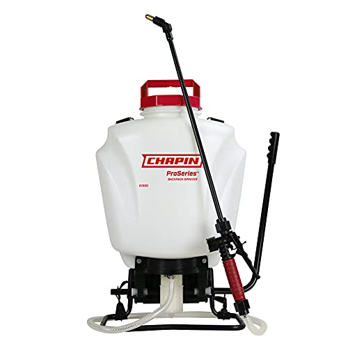 CHAPIN 61800 4Gal Backpack Sprayer with Adjustable and Fan Nozzle , 4-Gallon, Translucent White