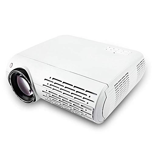 LED Projector 6500 Lumens 4K 2K FULL HD Android 6.0 Ondersteuning Wireless Screen Interaction 100 inch scherm,White