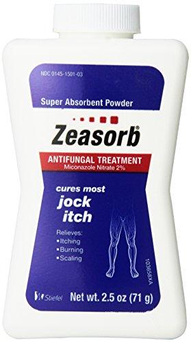 Zeasorb Antifungal Treatment Powder, Jock Itch 2.5 Oz (3 Pack)