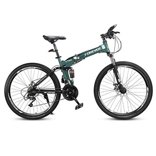 Bicicleta Montaña MTB Bicicleta De Montaña, De 26 Pulgadas De Acero Al Carbono Bicicletas Marco, De Doble Suspensión Y Doble Freno De Disco, Ruedas De Radios, 24 De Velocidad Bicicleta de Montaña