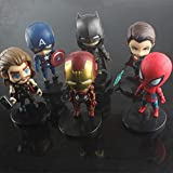 SSRS Versión q de la Mano de los Vengadores 3 para Hacer un Juego Completo de Adornos Modelo de muñeco capitán de Estados Unidos de Spiderman.