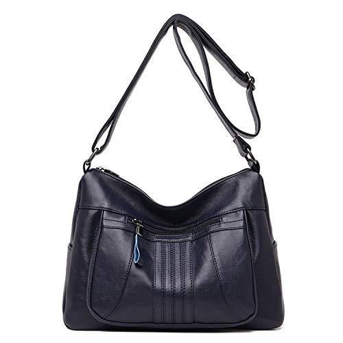 Small-shop handbags Umhängetaschen für Damen, weiches Leder, Umhängetaschen, Vintage-Design, (Deep Blue Bag),...