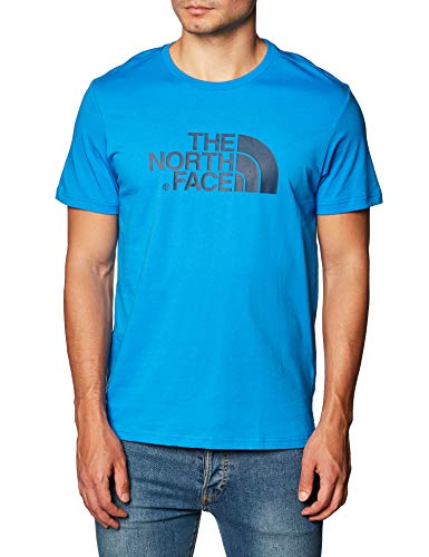 THE NORTH FACE M S/S Easy Tee Clear Lake Blue T-Shirt Homme Clear Lake Blue FR : L (Taille Fabricant : L)