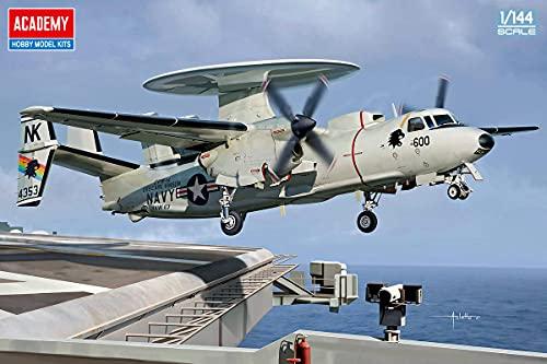 アカデミー 1/144 アメリカ海軍 E-2C ホークアイ VAW-113 ブラックイーグルス プラモデル 12623