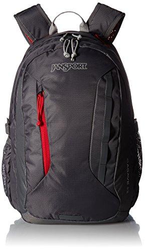 JanSport Agave Laptop Backpack (Forge Grey / Red Tape)