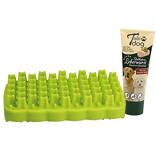 Barrettes à snack + 1 saucisse de foie Tubidog - La nouvelle idée de jeu et d'occupation pour chiens de petite et moyenne taille.