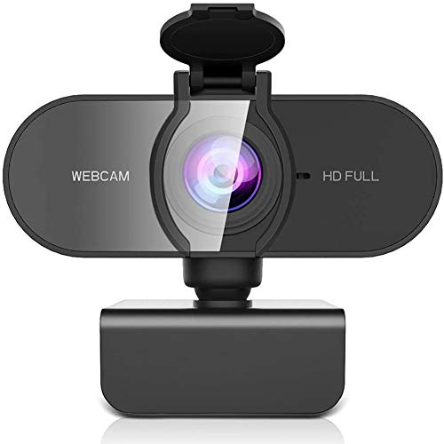 Aode 1080P Webcam Full HD mit Dual Stereo Mikrofon Belichtungs Korrektur USB Webcam fur PC Plug Play fur Windows Mac Linux fur Konferenz Streaming Online Kurs Videochat und Aufnahme etc